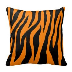 Mod Tiger Zebra Throw Pillows #animalprint