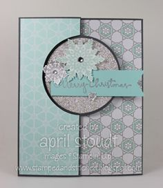 Stamped and Stitched: Another Flip Card! {Circle Card Thinlits Die}