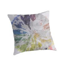 Color Wheel Mandala - from Eliza Fayle's Creative Spirit throw pillow collection