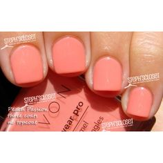 Avon Peach Passion Nail Polish ❤ liked on Polyvore featuring beauty products, nail care, nail polish, nails, makeup, avon nail polish and avon