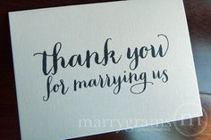 10 Things We Can't Get Enough of on Etsy Right Now – Thank You For Marrying Us, Officiant Card