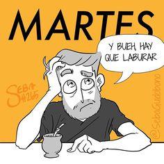 El martes es el día de la resignación #SebaDibujando #dibujo #martes A la noche nuevo dibujo ✏️