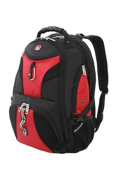 377a19226ff Pack all of your gear and then some in this extra-roomy full featured  laptop backpack. The Swissgear 1900 ScanSmart Laptop Backpack is made from  durable ...