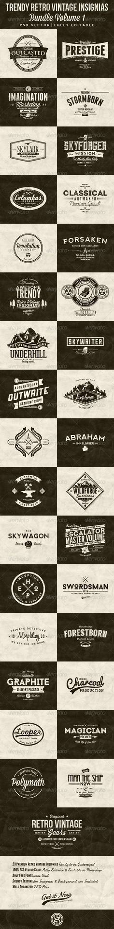 33 Trendy Retro Vintage Insignias Bundle Template | Buy and Download: http://graphicriver.net/item/33-trendy-retro-vintage-insignias-bundle-volume-1/7522214?WT.ac=category_thumb&WT.z_author=mining&ref=ksioks