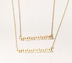 Gold mamama keepsake necklace by Tali Gillette | special first Mother's Day gifts for new moms