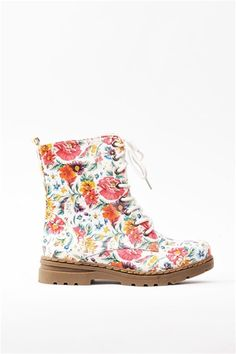 Gwen Floral Boot - Floral - these remind me of my preteen years!