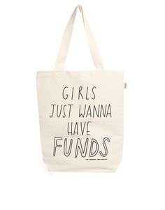 Talented Totes | Talented Totes Sally Beerworth Girls Just Wanna Have Funds Tote Bag at ASOS