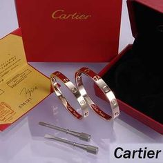 Cartier bangle love-Leve Lovers Bangles Pink Gold (Double)   $ 87.99