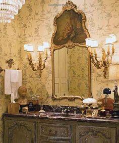 Charles Faudree Home: Trumeau mirror