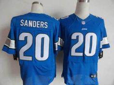 Nike Lions #20 Barry Sanders Blue Team Color Men's Embroidered NFL Elite Jersey!$25.00USD