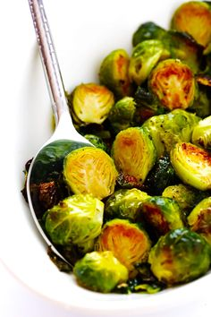 The BEST Roasted Brussels Sprouts Gimme Some Oven. Roasted Brussel Sprouts With Bacon Apples Gluten Free . Vegetarian Recipes Easy, Bacon Recipes, Veggie Recipes, Appetizer Recipes, Vegan Vegetarian, Alkaline Recipes, Kraft Recipes, Meal Recipes, Recipies