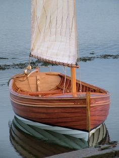 Wood painted dinghy