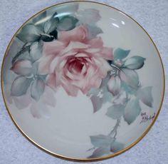 Ann Zitterkopf Studio - Gallery China Painting, Tole Painting, China Porcelain, Painted Porcelain, China Plates, Painted Plates, Rose Art, Animal Paintings, Decorative Plates