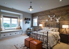 Bedroom. Rustic Bedr