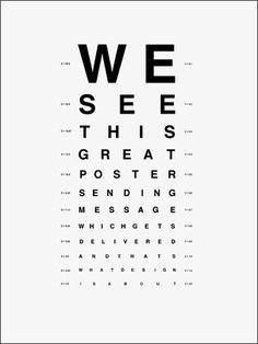 eyechart poster