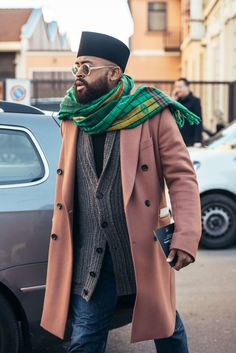 January 13, 2017 Milan, Sunglasses, Pink, Men, Hats, Scarves, FW17 Men's, Mobolaji Dawodu