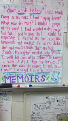 writing memoirs for kids Teaching students to read &write  involved in writing a memoir and reading a variety of  characteristics of memoirs through the use of literature and are.