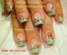 Cherry blossom nail art #nails
