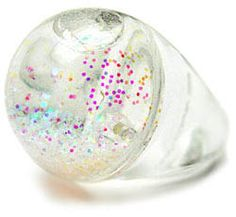 My life feels like a snowglobe, so why not have a snowglobe ring??