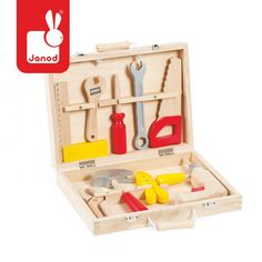 Bricolo Redmaster Kit Janod Children- A large selection of Toys and Hobbies on Smallable, the Family Concept Store - More than 600 brands. Kids Tool Box, Tool Set, Wooden Tool Boxes, Wooden Case, Making Wooden Toys, Shops, Christmas Gift Guide, Christmas Ideas, Kids Corner
