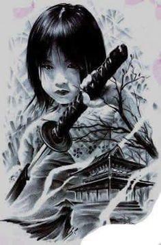 From Japan 🇯🇵 Female Samurai, Samurai Art, Samurai Warrior, Japanese Tattoo Art, Japanese Sleeve Tattoos, Bild Tattoos, Body Art Tattoos, Transférer Des Photos, Japanese Warrior
