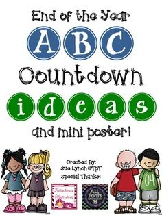 End of the Year ABC Countdown Fun!  Click here for FREE ideas for your end of the year ABC Countdown.