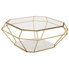 Eichholtz Asscher Coffee Table - Gold found on Polyvore