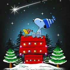 From Snoopy, Woodstock, and all the gang, have a Merry Christmas and a Blessed New Year! Peanuts Christmas, Charlie Brown Christmas, Noel Christmas, Christmas Stockings, Peanuts Cartoon, Peanuts Snoopy, Snoopy Frases, Gifs Snoopy, Mery Chrismas