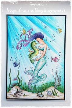Franz-Blog: Under the sea  Gorgeous mermaid from Make it Crafty