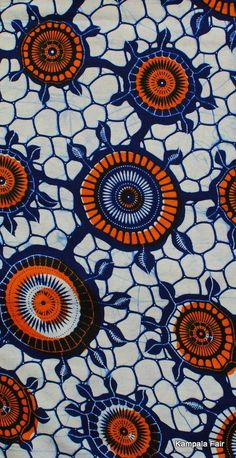 African Batik Print | Image via kampalafair.com