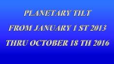 Earth's Planetary Tilt 1/01/2013 - 10/18/2016