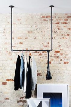Clothes rail attached to the ceiling - many sizes