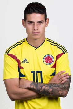 James Rodriguez of Colombia poses for a portrait during the official FIFA World Cup 2018 portrait session at Kazan Ski Resort on June 13 2018 in. James Rodriguez Colombia, James Rodrigues, Messi And Ronaldo, Cristiano Ronaldo, Colombia Soccer, Fifa World Cup 2018, Leonel Messi, James 3, Fc Porto