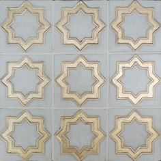 Luxury tile, Aida in gold and gray.  Insanely gorgeous moroccan tile.