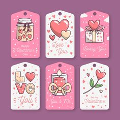 Collection of valentines day labels … Birthday Card Drawing, Birthday Cards, Printable Planner Stickers, Scrapbook Stickers, Beauty Box, Diy Cards, Cute Stickers, Diy Gifts, Gift Tags