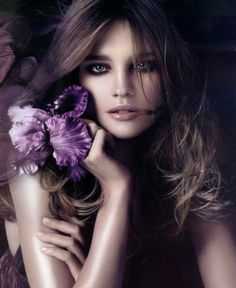 Beauty with Purple Orchid