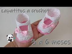 zapatos para bebe a crochet -modelo Isa- 3 a 6 z. crochet baby shoes -model Isa- 3 to 6 crochet baby shoes -model Isa- 3 to 6 months- Crochet Baby Sandals, Baby Girl Crochet, Love Crochet, Easy Crochet, Cute Baby Shoes, Baby Girl Shoes, Crochet Shoes Pattern, Crochet Patterns, Crochet Buttons