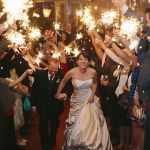 "Real Weddings - In Bliss Weddings   Jenn says, ""Andy and I finally left the party under a shower of heart-shaped sparklers and were whisked away to our wedding suite in a vintage 1957 Silver Cloud Rolls-Royce.""  Image Credit: Katie and Joshua Studios"