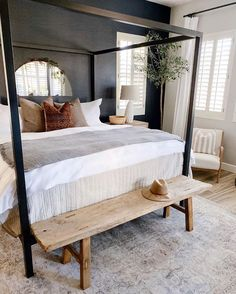 When you wake up to a flood in your kitchen, breakfast nook, and laundry room, your day can only go up from there! Posting an old photo of… Interior Exterior, Interior Design, Up House, Home Decor Bedroom, Bedroom Inspo, Bedroom Ideas, Beautiful Bedrooms, New Room, Boudoir