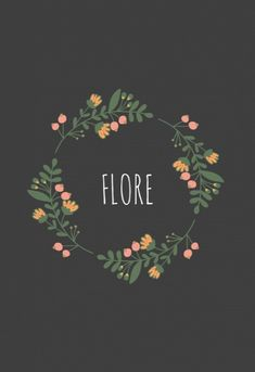 Flore is een hip geboortekaartje met een cirkel van retro bloemen takjes op een zwarte achtergrond. Voor een lieve uitstraling kun je de achtergrond kleur veranderen in roze bijvoorbeeld.   Tip: bestel dit kaartje op klassiek (oud hollands) papier voor een vintage uitstraling.