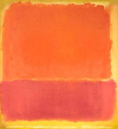 color scheme pink yellow orange rothko