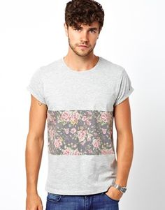 Image 1 ofASOS T-Shirt With Sublimated Flower Print
