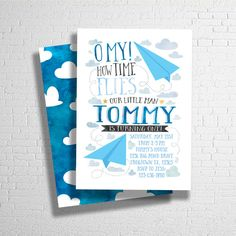 Paper airplane birthday party invitation paper airplanes party airplane birthday invitation paper airplane by ohbejoyfulshop filmwisefo Image collections