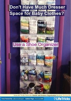 Closets and Drawers Organization - Don't Have Much Dresser Space for Baby Clothes?