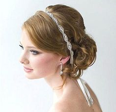 CIMC LLC Luxury Wedding Headband Rhinestone Flower Elastic Hair Accessory - Ideal for Bridal Party, Wedding, Bridesmaids, Proms, Pageants >>> Learn more by visiting the image link. (This is an Amazon affiliate link)