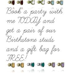"""Free Birthstone Studs from Chloe and Isabel"" by cia-guglielmina-osterhouse on Polyvore"