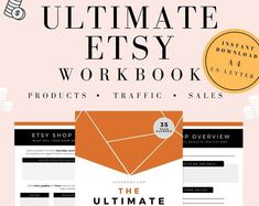 All the steps in this workbook have helped me personally reach all of my Etsy shop goals over the last few years and scale my business above and beyond the Etsy platform...   GRAB THE ULTIMATE ETSY WORKBOOK HERE Printable Planner, Printables, Etsy Seo, Phone Wallpaper Design, Shop Up, Shop Organization, Girly Gifts, Business Planner, Etsy Business