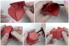 Origami Puffy Heart Instructions!: Origami Puffy Heart Instructions - Step 8