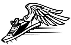 track shoe clip art track and field clip art teacher rh pinterest com shoe with wings logo name shoe with wings logo name