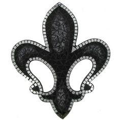 Black & Silver Mosaic Fleur-De-Lis | Shop Hobby Lobby